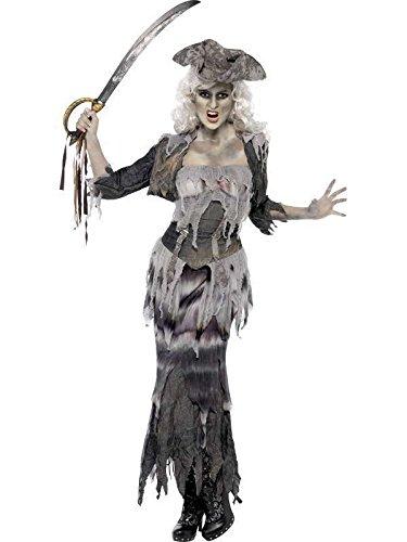 Lady Zombie Kostüme Halloween (zombie Lady Kostüm Pirat, Größe)