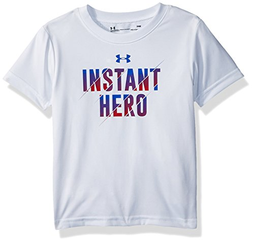 Under Armour Baby Boys Instant Hero Short Sleeve T-Shirt, White, 18M