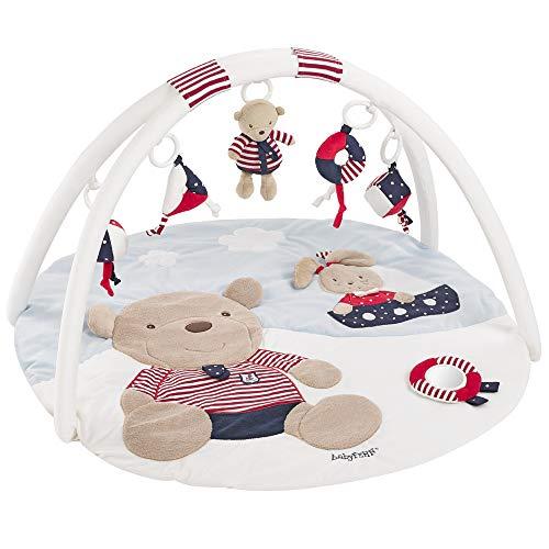 Fehn 078220 3-D-Activity-Decke Teddy / Spielbogen mit 5 abnehmbaren Spielzeugen für Babys Spiel & Spaß von Geburt an / Maße: Ø85cm -