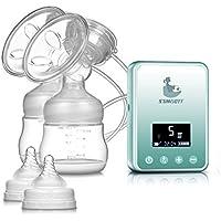 Tiralatte Elettrico - SUMGOTT Ricaricabile Raddoppiare Pompa di latte Massaggi Prolattina con Display LCD Digitale