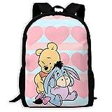 Zainetto da viaggio personalizzabile, motivo: Winnie The Pooh, colore: rosa