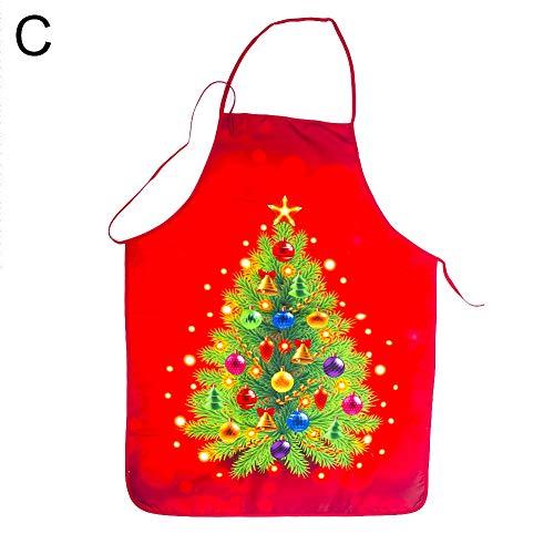 Kostüm Auf Vorhang - Muzhilli3 Weihnachtsdekoration, Frohe Weihnachten Weihnachtsbaum Weihnachtsmann Schürze Küche Kochen Backen Kostüm - C