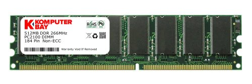 Komputerbay 512MB DDR PC2100 266MHz 184 Pin DIMM 2.5V 512 MB