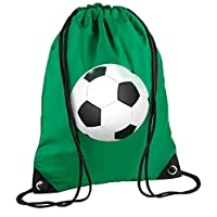 laylawson Kids Football Gym Sac Trainer Bag (One Size, Kelly Green)