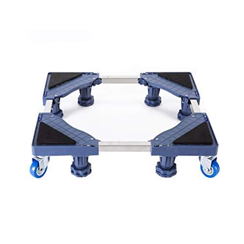 Multifunktionale, bewegliche, verstellbare Basis Stationäre Fußdrehung Radkombination Gilt für Waschmaschine Trockner Kühlschrank Klimaanlage Universelle Aktivitäten Grau (Farbe: B) -