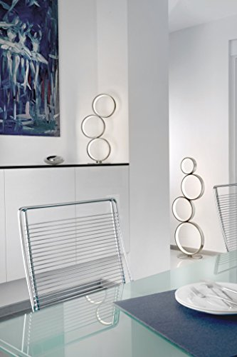 SOMPEX - Lampe à poser design Led et métal satiné Loop