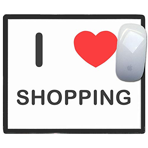 I Love Heart Shopping - Kunststoff-Mauspad
