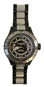 Immersion - IM8211 - Montre Homme - Automatique Analogique - Cadran Noir - Bracelet Acier Noir/Gris