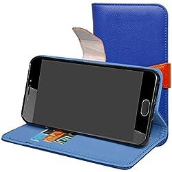 Mama Mouth Liquid Z6 Plus Coque, PU Cuir Portefeuille Debout Fonction Housse Coque Étui Couverture pour Acer Liquid Z6 Plus Smartphone,Bleu