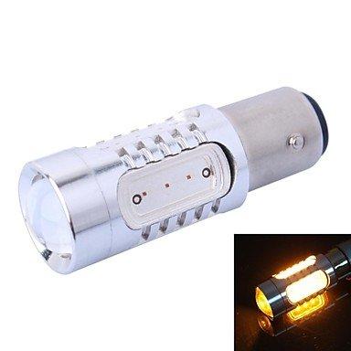LIROOT1156 / BAU15S / P21W 11W 400LM LED giallo per auto girare lo sterzo / Backup lampada luce (DC12-24V)
