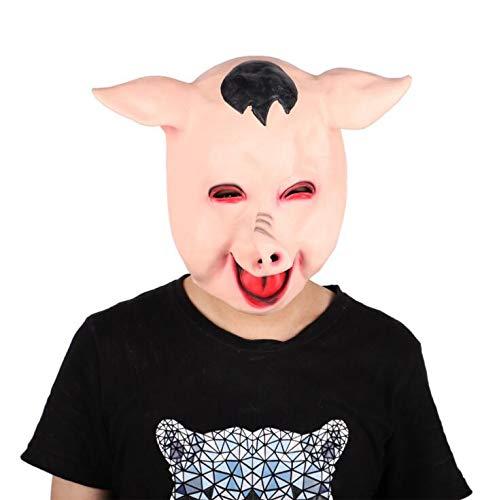 Kostüm Kultur Kein Unsere Ist - WXFC Halloween Maske, Tier Kopfbedeckung Schwein Kopfbedeckung kostüm Party Requisiten Maske bar atmosphäre Latex Kopfbedeckung Party Kultur, 23 * 24 cm