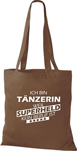 Tote Bag Shirtstown Sono Un Ballerino Perché Il Supereroe Non È Di Professione Marrone Medio