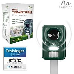 Gardigo Solar Katzenschreck, Marderschreck | Tiervertreiber | Bewegungssensor | Ultraschall | Deutscher Hersteller