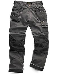 Standsafe WK003G40R - Pantalones de trabajo con cordura, color gris