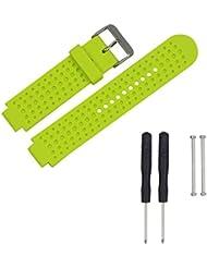 chengstore Reemplazo Banda para Garmin Forerunner 230/235/630/220/620/735GPS reloj de pulsera correa de silicona reloj, color verde