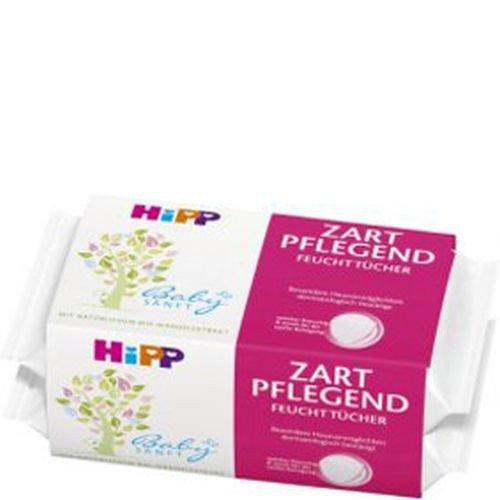 HIPP Feuchttücher 2 x 56 Baby-Pflege