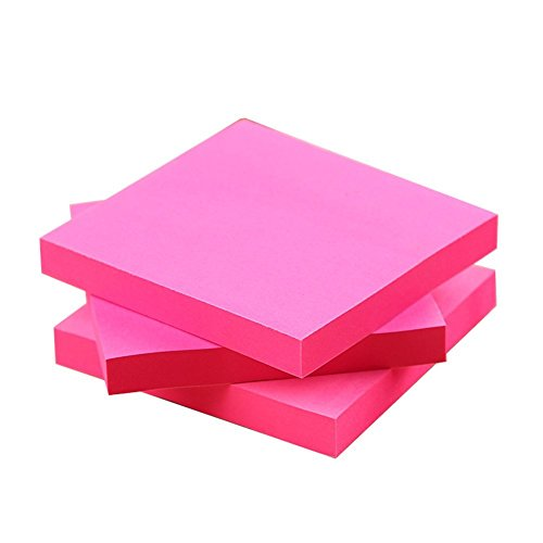 cosanter-notes-autocollantes-100-feuilles-bloc-notes-76-x-76-mm-rose