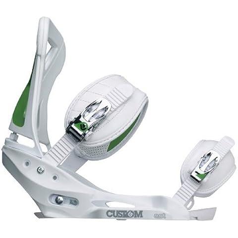 Fijaciones para tabla de Snowboard Burton Custom EST 10/11 Blanco blanco Talla:large