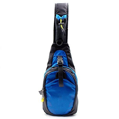 UOOOM Multifunktions Umhängetasche Schleuder Tasche Chest Pack Outdoor Sportarten Reisen nylon fabric Umhängetasche Blau