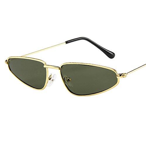 Spiegel Retro Sonnenbrille, Zolimx Mode Frauen Damen Kleine Rahmen Sonnenbrille Vintage Retro Cat Eye Sonnenbrille (Grün)