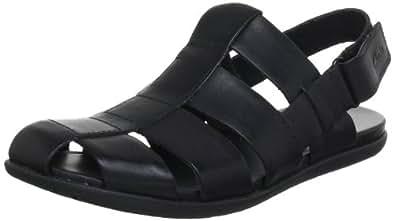 Clarks Men's Valor Sky Black Leather Sandals and Floaters - 8 UK