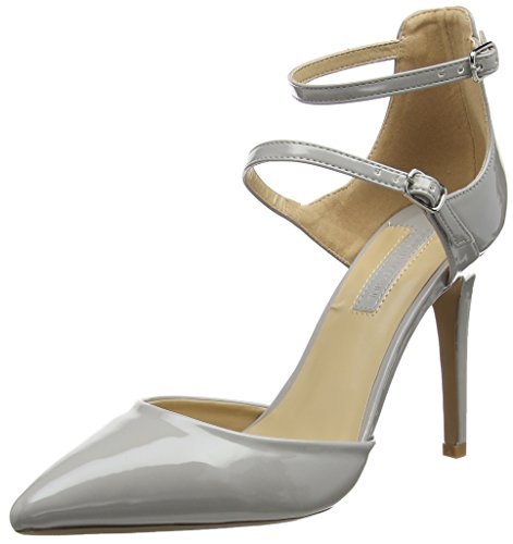 Dorothy Perkins - Grey Gizmo Multi Buckle Court, Strap alla caviglia Donna Grey (Grey)