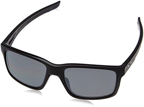 Oakley Herren Sonnenbrille Mainlink Schwarz (Matte Black/Blackiridpolar), 57