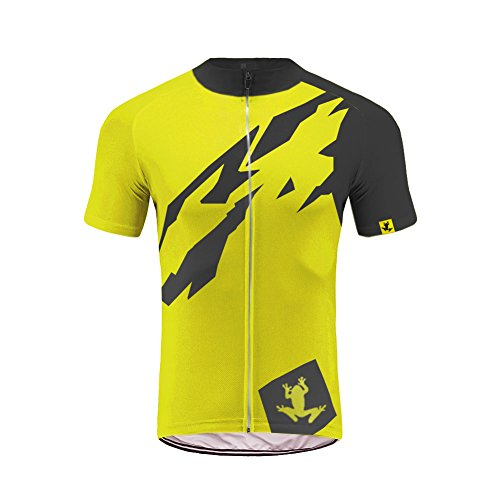 Uglyfrog Manica corta Uomini Cycling Jersey Zip Jacket ciclo completo shirt traspirante leggero e comodo Mountain Bike Abbigliamento Top