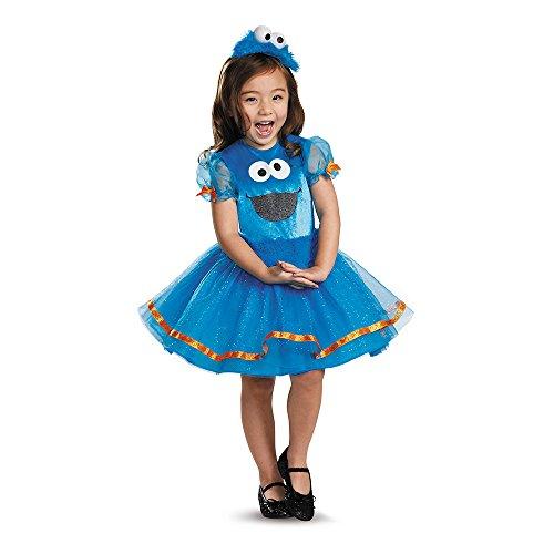 Deluxe Sesamstrasse Kinder Mädchen Halloween Fasching Karneval Kostüm 104 bis 122 (Mädchen Cookie Monster Kostüme)