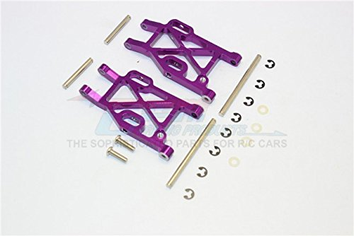 Kyosho Mini Inferno Tuning Teile Aluminium Rear Lower Arm With E-Clips & Pins & Delrin Collars - 1Pr Set Purple - Eclip-pin