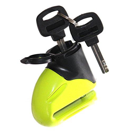 1 Bremsscheibenschloß Motorrad Roller Krad Sicherung Schloß Scheibenschloß 5,5mm Grün mit 2 Schlüssel Neu Otto Harvest