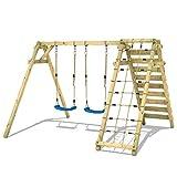 WICKEY Portique de balançoire Smart Cliff Balançoire pour enfants bois Balançoire avec extension d'escalade...