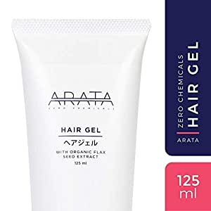 Arata Zero Chemicals Organic Flax Seed Hair Gel For Styling and Hold, For Men and Women,125 ml