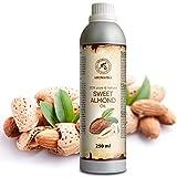 Mandelöl Raffiniert 250ml - Reines und Natives Mandel Öl - Prunus Amygdalus Dulcis Oil - Italien - Intensive Pflege Für Gesicht - Körper - Haare - für Massage