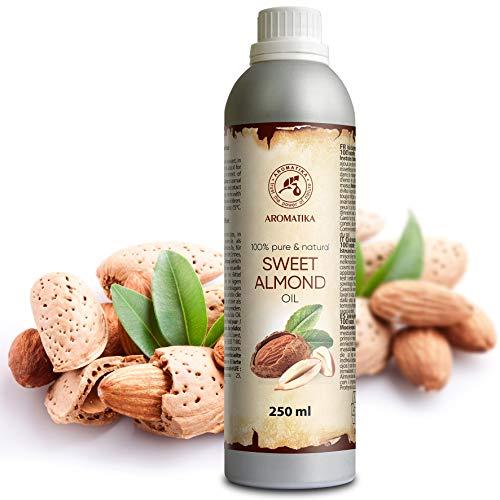 Körper-Öl-reines Mandel (Mandelöl Raffiniert 250ml - Reines und Natives Mandel Öl - Prunus Amygdalus Dulcis Oil - Italien - Intensive Pflege Für Gesicht - Körper - Haare - für Massage)