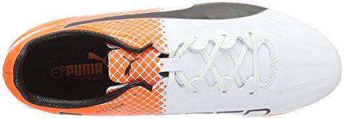 Puma Herren Evospeed Sl-s Ii Ag Fußballschuhe Weiß (puma white-puma Black-SHOCKING Orange 02)