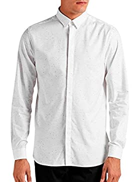 Camisa Slim Fit Blanca Moteada d