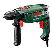 BOSCH 680W 240V CORDED KEYLESS CHUCK HAMMER DRILL with MIXED DRILL BIT ACCESSORY