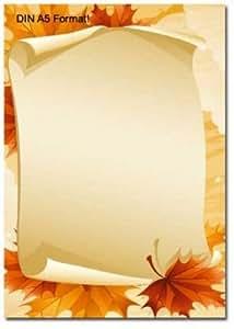 briefpapier herbstbl tter din a5 format 50 blatt b robedarf schreibwaren. Black Bedroom Furniture Sets. Home Design Ideas