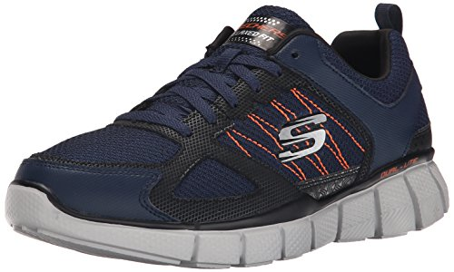 SkechersEqualizer 2.0 on Track - Scarpe Running uomo , Blu (Blue (Nvor - Navy Orange)), 42 EU