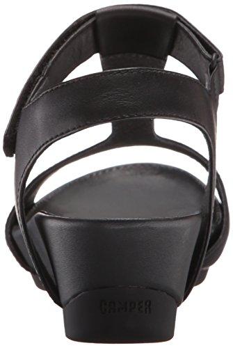 Camper - Supersoft Negro/micro Negro, Sandali Donna Nero (Black 003)