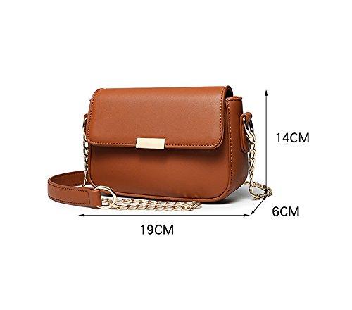 Mini sacchetto selvaggio semplice di estate, versione coreana del sacchetto obliquente della borsa a tracolla, borse a catena ( Colore : Rosso ) Nero
