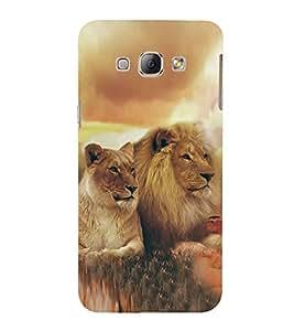 Fuson Designer Back Case Cover for Samsung Galaxy A8 (2015) :: Samsung Galaxy A8 Duos (2015) :: Samsung Galaxy A8 A800F A800Y (Lion Sher King Of Jungle Lioness King)