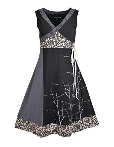 Vestito da sera organico del vestito dal cotone senza bretelle del vestito da donna e dal vestito da sera Nero