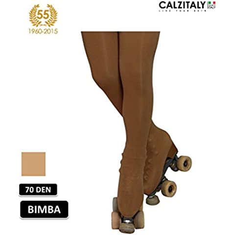 COLLANT COPRIPATTINO PATTINAGGIO BIMBA | CALZE SKATING | 70 DEN | NATURALE | COPRIPATTINO |
