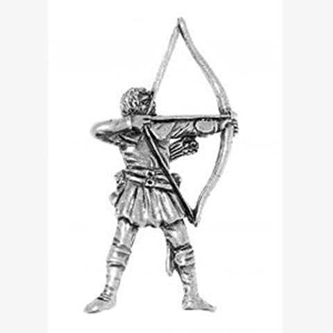 Pewter Robin Hood Archery Pin Badge in Engraved Gift Box, Lovely Gift Idea
