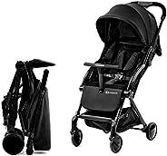 Kinderkraft Lekka Spacerówka PILOT, Wózek dziecięcy, Proste składanie do kompaktowych rozmiarów, Regulacja opa