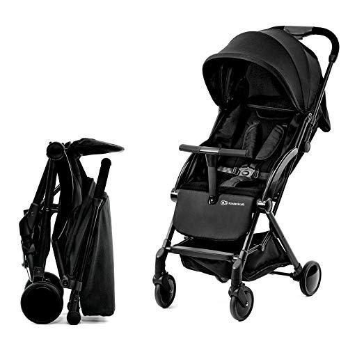 Kinderkraft passeggino ultraleggero pilot, compatto, regolabile, pieghevole, accessori, per bambini, 0-15 kg, nero