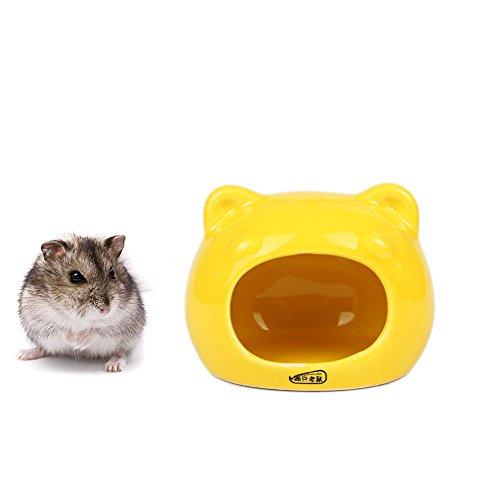 (Keramik-Hamster-Versteck, Nest, Chinchilla-Käfig-Zubehör, Hamster-Haus, Spielzeug, Höhle und Bad für Kleintiere, Kurzkopfgleitbeutler, Eichhörnchen, Chinchillas, Hamster, Ratten zum Spielen und Schlafen)