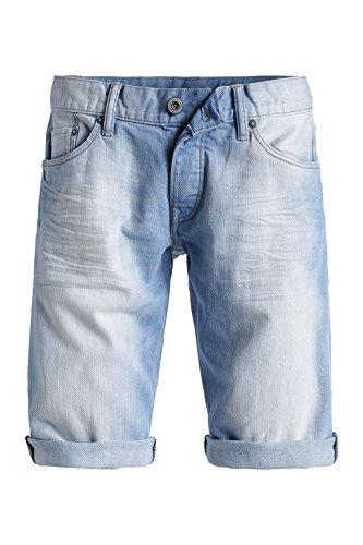 edc by ESPRIT Herren Shorts in heller Waschung Blau (C LIGHT BLUE 956)